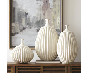 Ваза Sawtooth Vase-Rustic White-Med