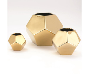 Ваза Faceted Vase-Gold-Sm